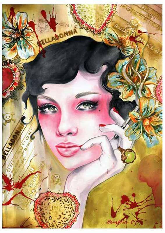 Belladonna – Black Haired Beauty Fine Art Print Cambria 1