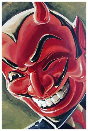 Devilish Grin - Fine Art Print Mike Bell