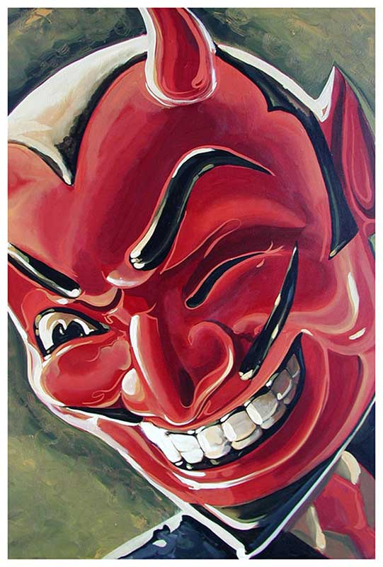 Devilish Grin – Fine Art Print Mike Bell 1