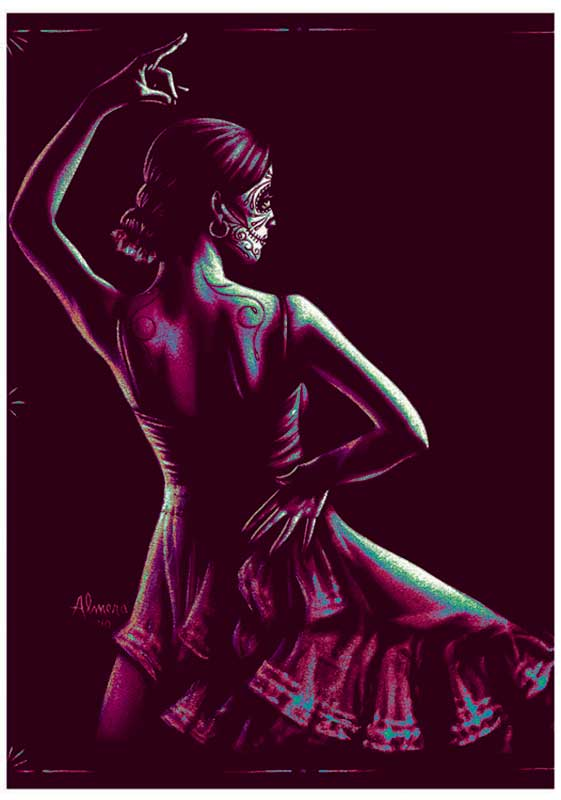 Flamenca Dancer – Fine Art Print 1