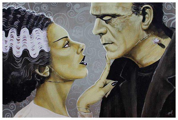 Flirtationship Frankenstein & Frankenbride – Fine Art Print 1