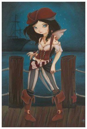 Jane of the Sea Pirate Girl - Fine Art Print Terra Bidlespacher