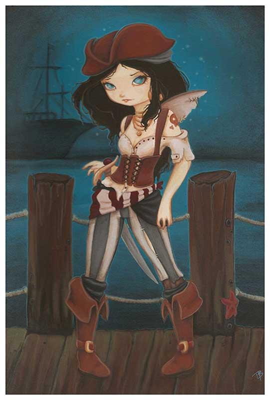 Jane of the Sea Pirate Girl – Fine Art Print Terra Bidlespacher 1