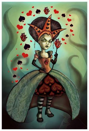 Levin Queen of Hearts - Fine Art Print Diana Levin