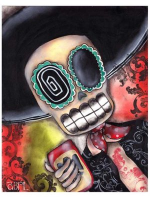 Martin Mariachi - Day of the Dead - Fine Art Print Abril Andrade