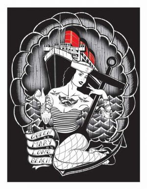 Queen Mary - Limited Edition Silkscreen Fine Art Print Ian McNiel