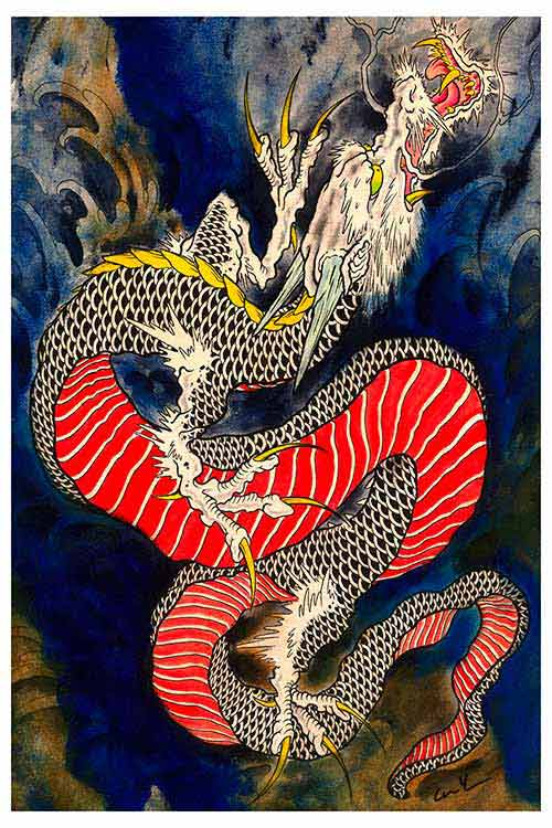 Rising Dragon – Fine Art Print 1
