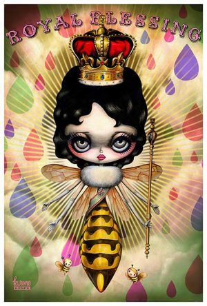 Royal Blessing Queen Bee - Fine Art Print Kurono