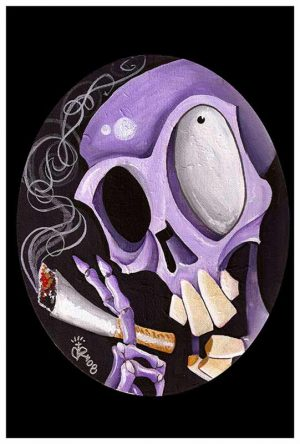 Smoking Skull - Fine Art Print