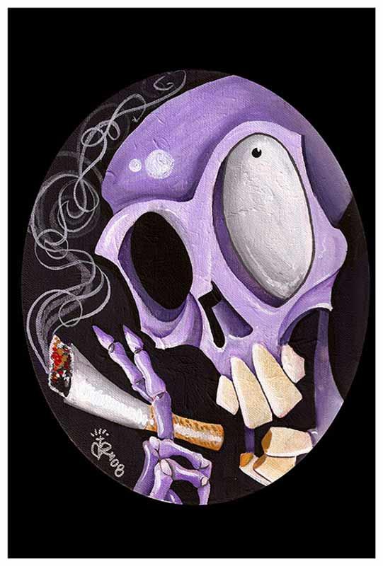 Smoking Skull – Fine Art Print 1