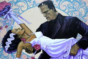 The Wedding - Frankenstein & Bride - Fine Art Print Mike Bell