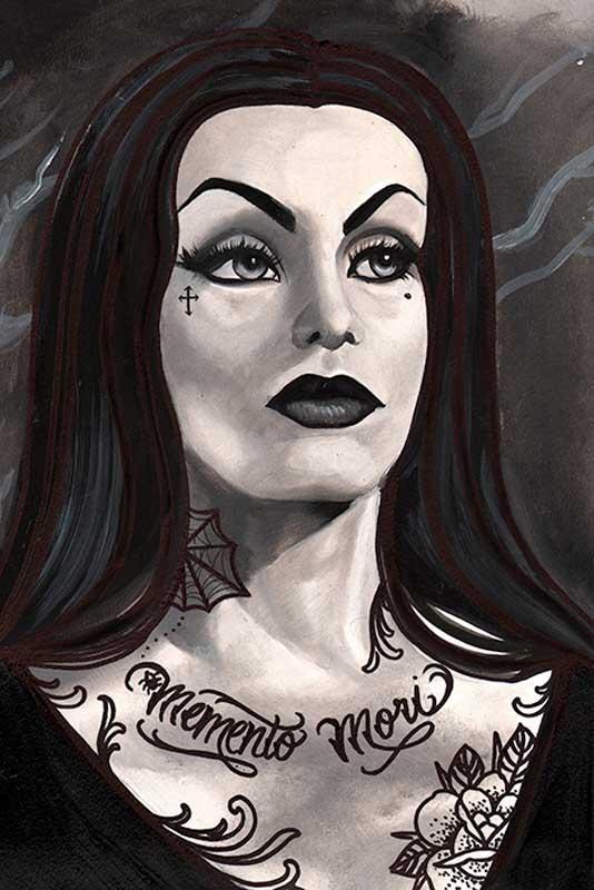 Vampira – Fine Art Print by Thea Fear 1