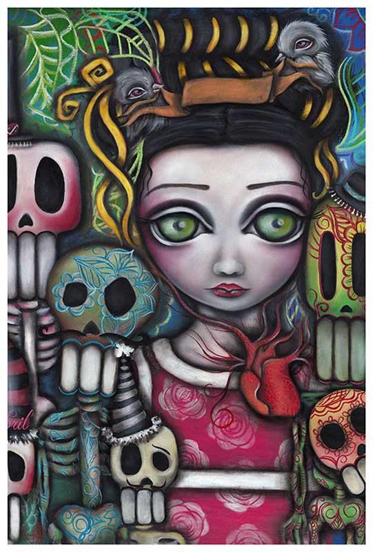 Viva La Vida Day of the Dead – Fine Art Print Abril Andrade 1