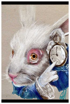 White Rabbit Time - Fine Art Print Manuela Lai