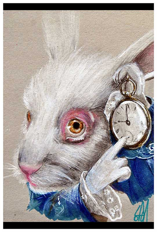 White Rabbit Time – Fine Art Print Manuela Lai 1