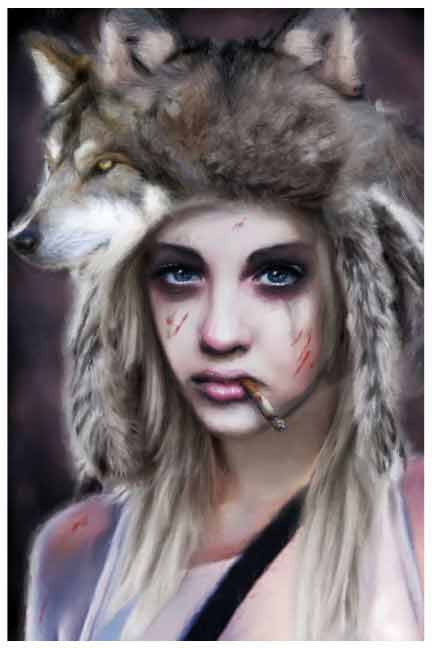 Wolf Hunter – Fine Art Print 1