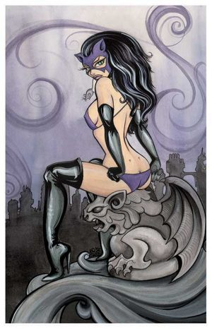 Cat Woman - Fine Art Print