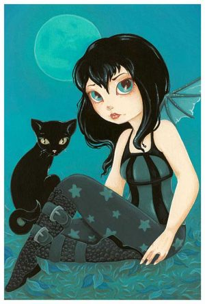 Moonlight Hijinks Gothic Fairy - Fine Art Print Terra Bidlespacher